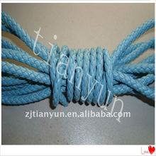 6mm in 6strands round braided fake leather cord for belt