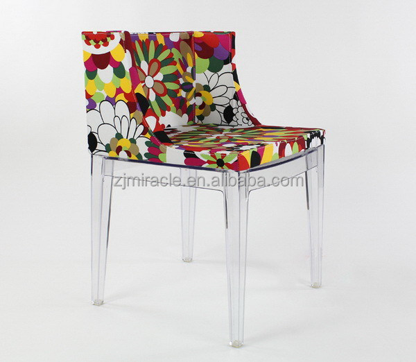 Customized classical chrome leg dining chairs