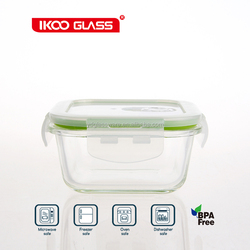 Glass luch box food grade shipping container heat retaining food container