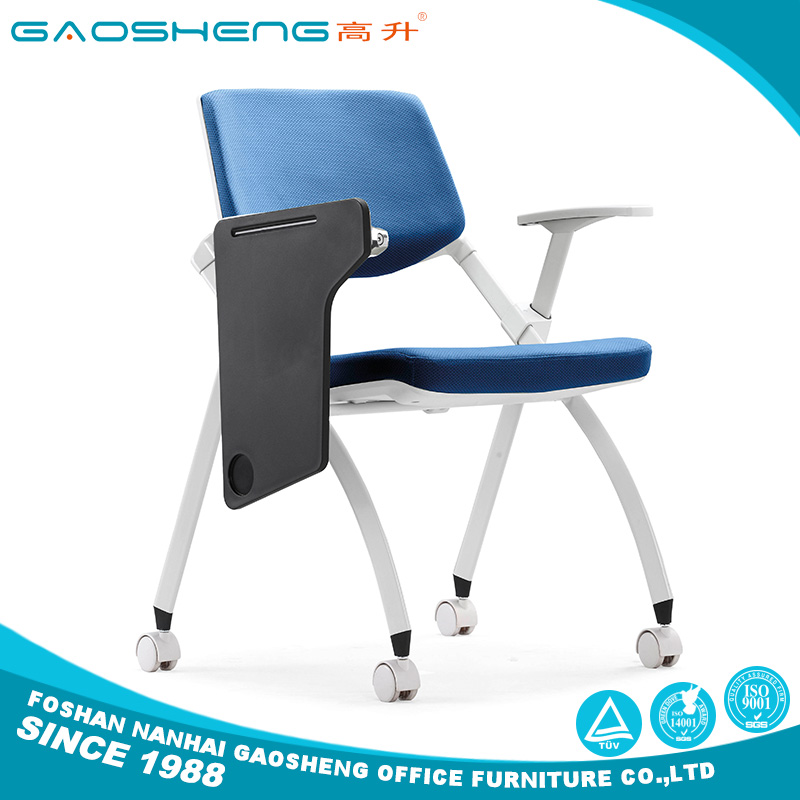 China alibaba Folding stackable school study training chairs with writing pad made in China