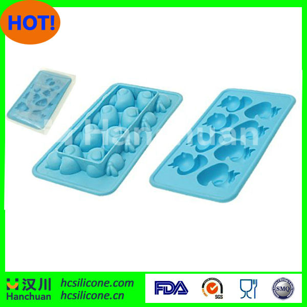 soft duck TPR ice cube tray