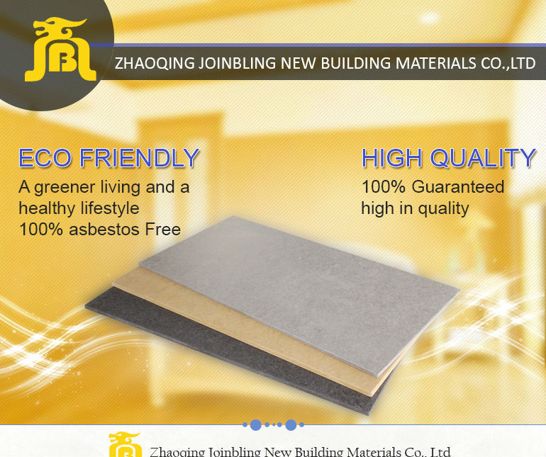 Heat Resistant High Density Decorative Exterior Fiber Cement Wall Panel