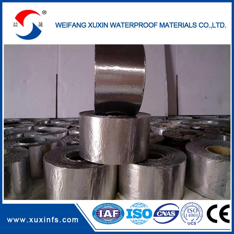 Aluminum foil one side bitumen material self adhesive waterproof membrane1.0/1.2/1.5/2.0mm