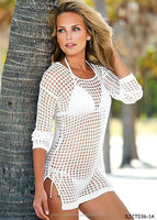 long white women crochet top
