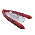 Professional Manufacturer of FRP Hull Red RIB 580 Boats Hypalon/PVC Material with CE Certificate