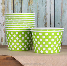 Disposable ice cream bowl dot ice cream paper cup