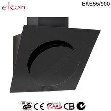 CE GS CB SAA Approved Best Selling Black Glass 90cm Wall Mounted Round Cooker Hoods