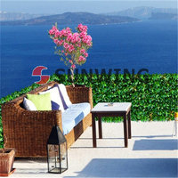 Artificial box hedge wall plastic leaf Synthetic hedge fake leaves Balcony decoration