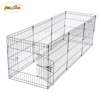 Popular Foldable Metal Exercise Pen / Pet Playpen Welded Wire Dog Kennel House