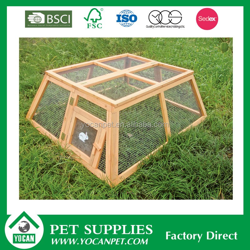 wooden ISO14001 commercial rabbit cages