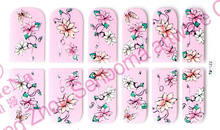 flowers stencil nail wraps nail art stickers nail art foil roll
