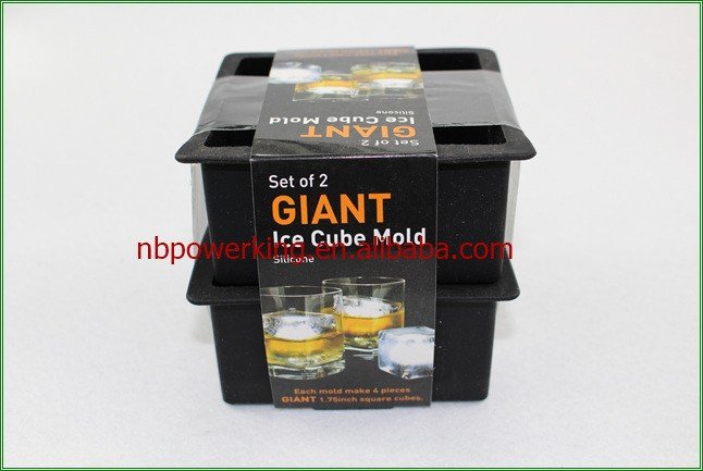 Giant Square Freeze Silicone Square Ice Cube Tray Mould Maker Mold