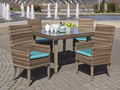 2017 Trade Assurance Most Popular New arrival outdoor pe rattan restaurant used dining table set furniture