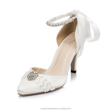 alibaba popular design wedding shoes with crystal for women bridal shoes