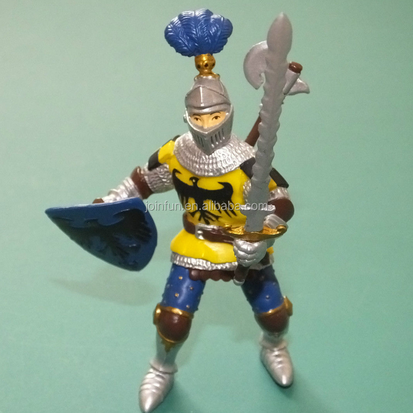 custom make 3d Warriors of the World hard plastic Viking painted figure