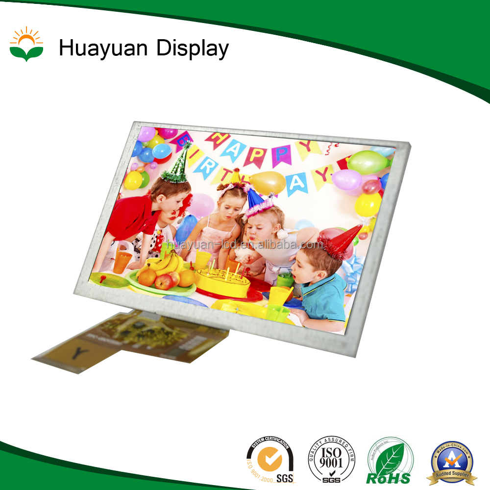 "5"" Full Viewing angle transflective lcd display with 24bit RGB interface TFT LCD module"