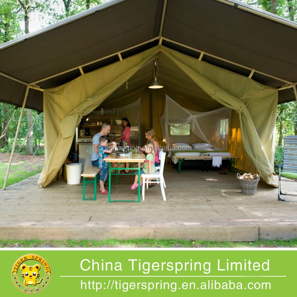 manufacture canvas camping tent glamping tent for family tourist