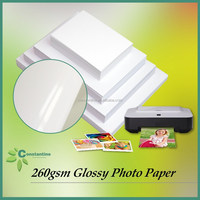 Wholesale photo paper Inkjet waterproof paper 260gsm Glossy printing paper
