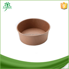 Disposable Kraft Paper Salad Bowl Paper Food Container