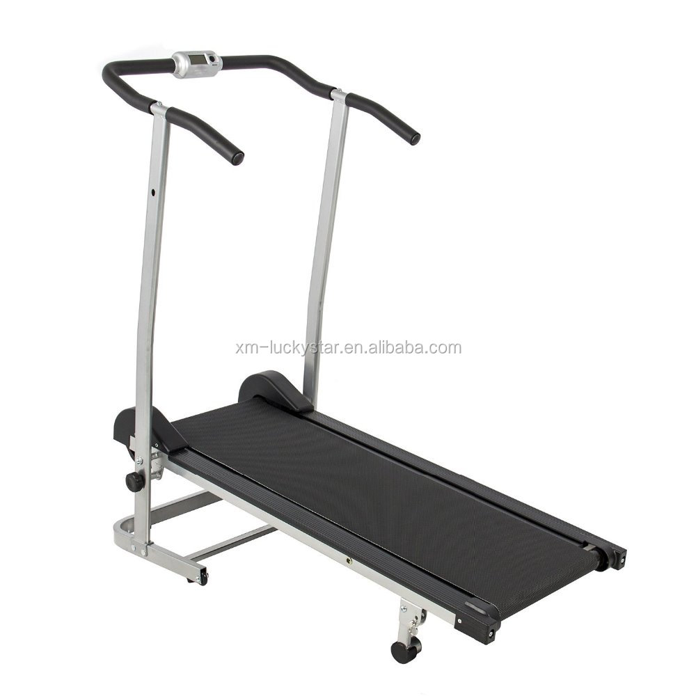 China Factory Magnetic Running Machine Treadmills with Twin Flywheels Manual Treadmill