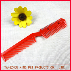 Dog grooming products wholesale plastic hair pet comb cat for dematting
