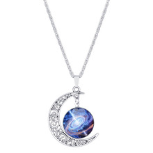 Latest design beads necklace New Star Universe moon time gem necklace