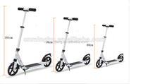 2016 Double Kick Scooter 200mm PU Large Wheels Adult Kick Scooter