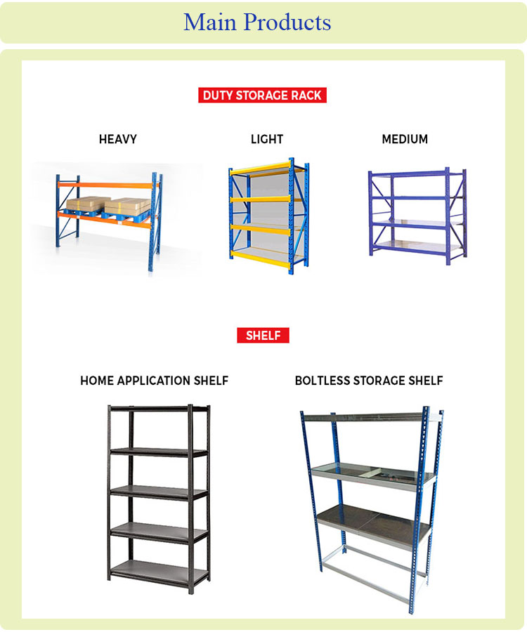 China High Adjustable Metal Bars Medium-Duty Storage Rack and Metal Storage Shelf