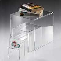 Clear Acrylic Console Table Plexiglass Coffee Table End Table