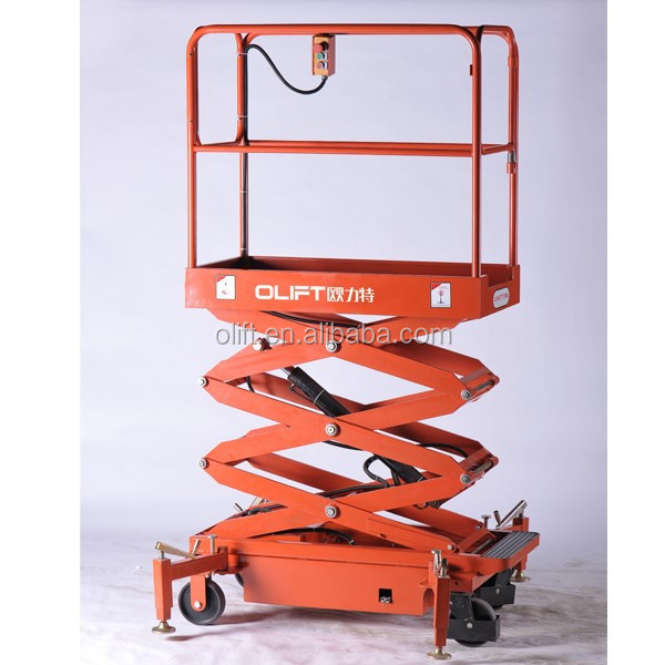 hydraulic fork lifter mini electric scissor lift platform portable lifter
