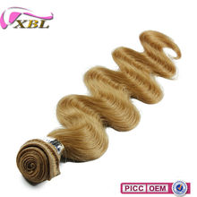 New Arrival Virgin Peruvian 27# Body Wave Human Hair Natural Blonde Curly Human Hair Extensions