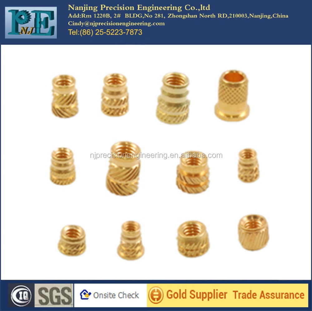 china manufacture cnc machining brass inserts