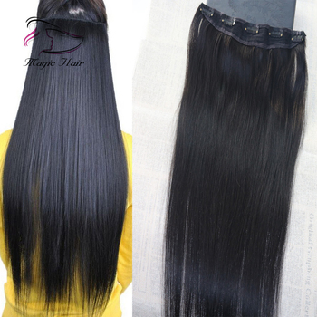 Black Friday Big Promotion Virgin Brazilian human hair 3/4 Full head One Piece clip in hair extensions with 5 clips