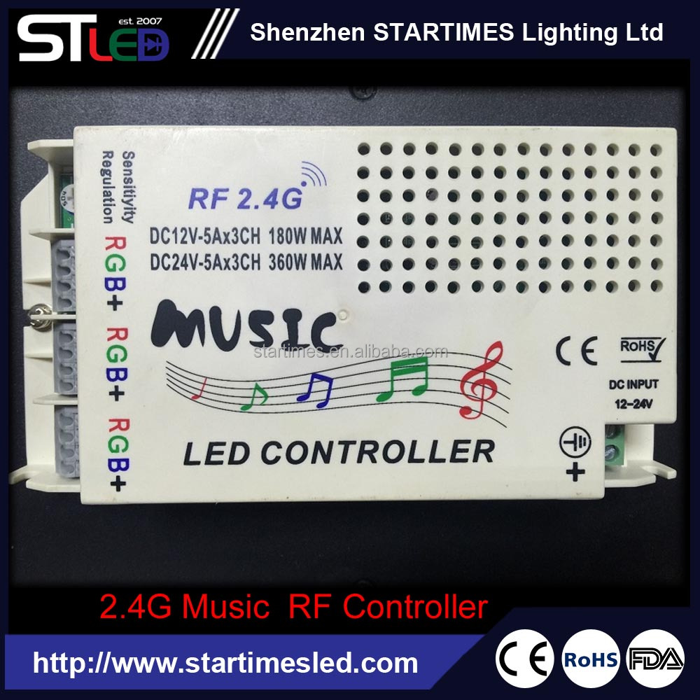 2.4g anti-jamming rf music rgb led controller for KTV,Pub decoration