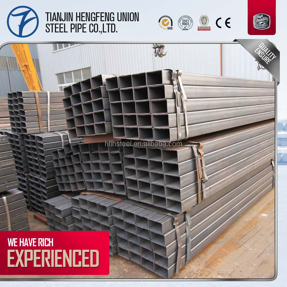 Standard Size Ms Galvanized Steel Square Tube Pipe