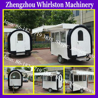China mobile modern food trolley carts for sale/hot dog trailer with low price
