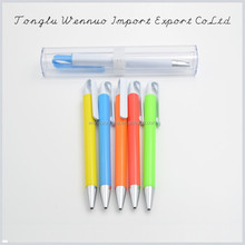Hangzhou office colored barrel clip ball point pens