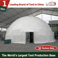 Round Half Sphere Tent With White PVC Roof Cover For Sale
