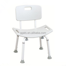 Ergonomically designed plastic shower chair for hospital medical use