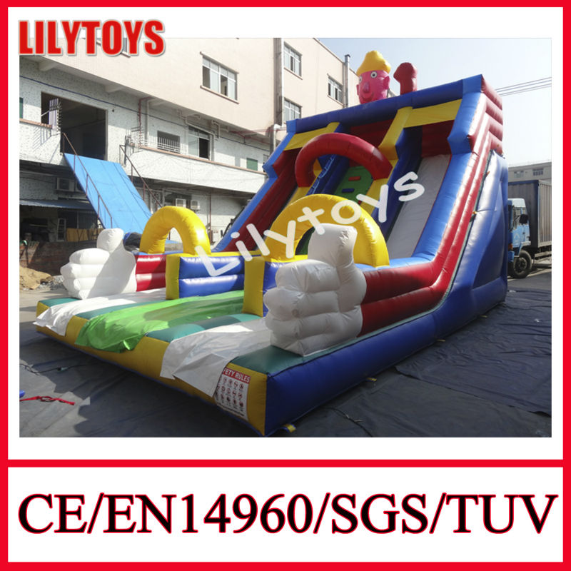 2014 New Designed Inflatable Bouncer Rental Commercial Bouncers Climb and Slide Inflatables