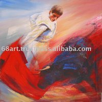 The Spanish bullfight oil painting on the canvas