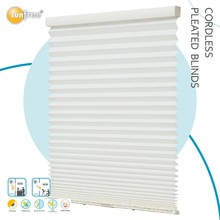 hotel 100%polyester shutter cordless pleated blinds