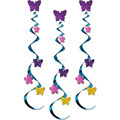 Luau Hawaiian Tropical Party Hanging Swirls Cutouts butterfly Dangling Swirl