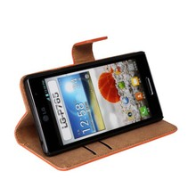 Hot 2014 Leather Flip Cover for LG optimus L9 LG P760/P765 with Stand