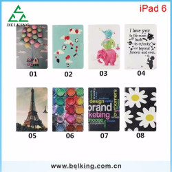 Protective Custom Smartphone Printing Leather Wallet Case for ipad Air 2 tablet case Wholesale Supplier