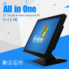 Cheap 12 inch Touch Screen All in One Panel PC Industrial Desktop for Hospital Queue Management System POS