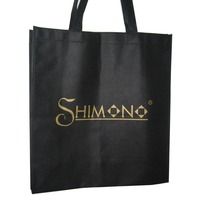 printed customized logo good quality handbag shopping pp non woven bag