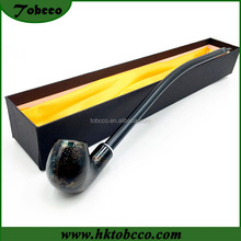 Wooden Tobacco Pipe snakeskin long stem wooden smoking Pipe parts