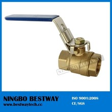 Forged Brass Lockable Ball Valve with Flat Steel Locking Handle