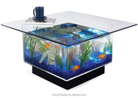 Acrylic fish tank coffee table, plexiglass fish tank